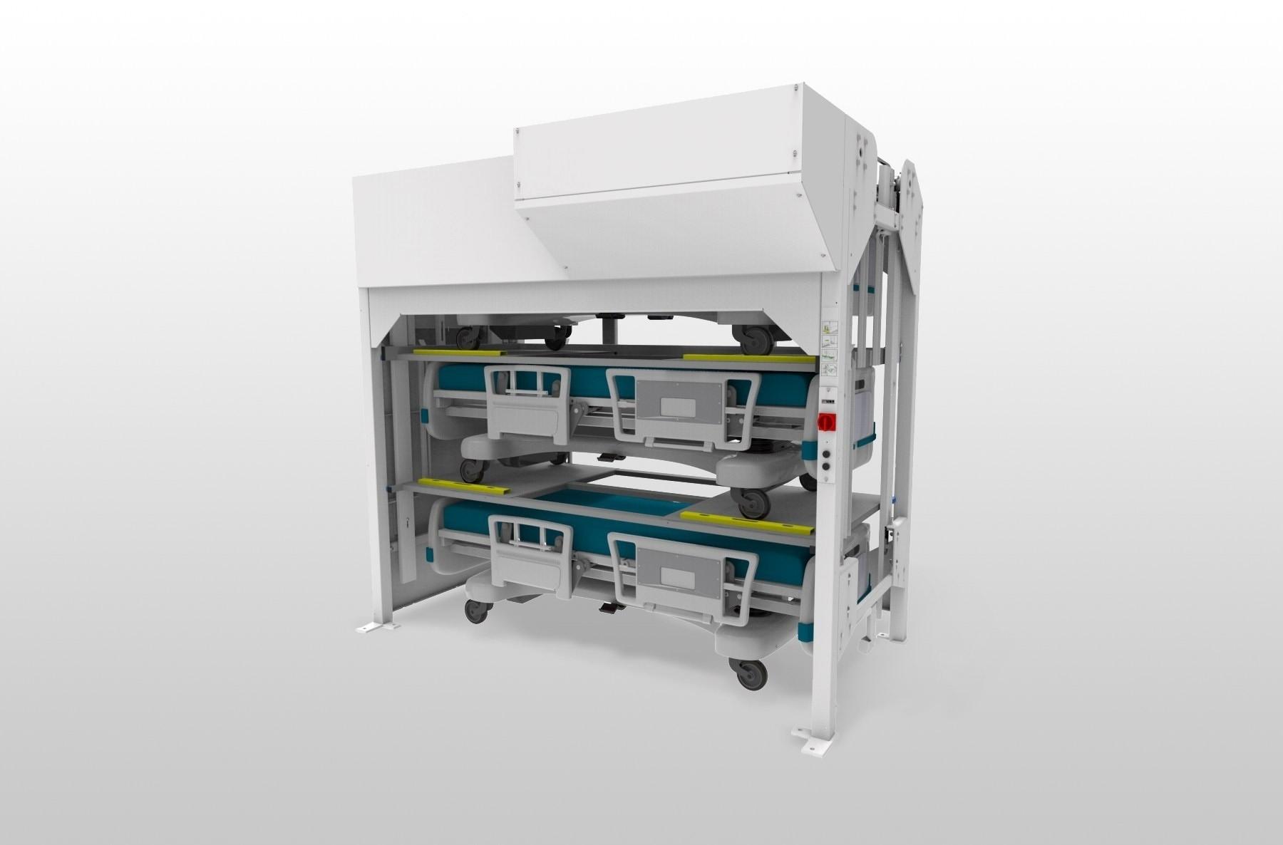 3 Position Side Load Hospital Bed Lift