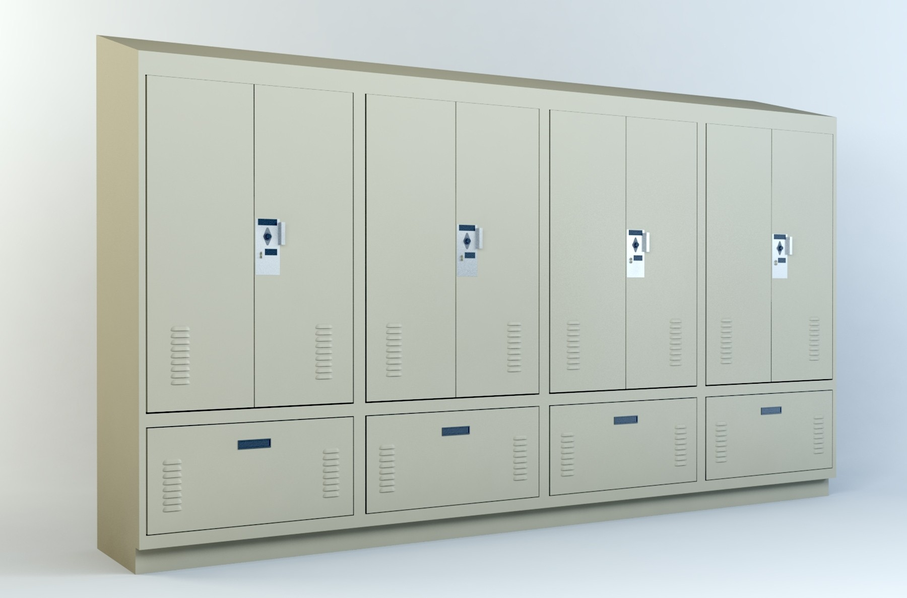 PSL-Door Drawer-Option 3 | Police Gear Locker | Police Officer Locker | Bench Locker | Drawer | Revit | BIM | Model | 10 51 00 | DSM | Spacesaver | Dufferin ... & PSL-Door Drawer-Option 3 | Police Gear Locker | Police Officer ...