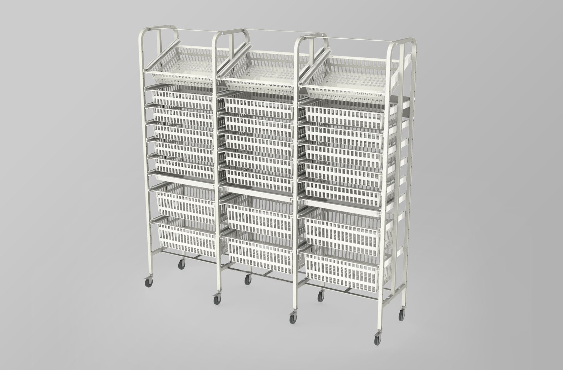 Medical Supply Storage-3 Column-9 High (Wide)