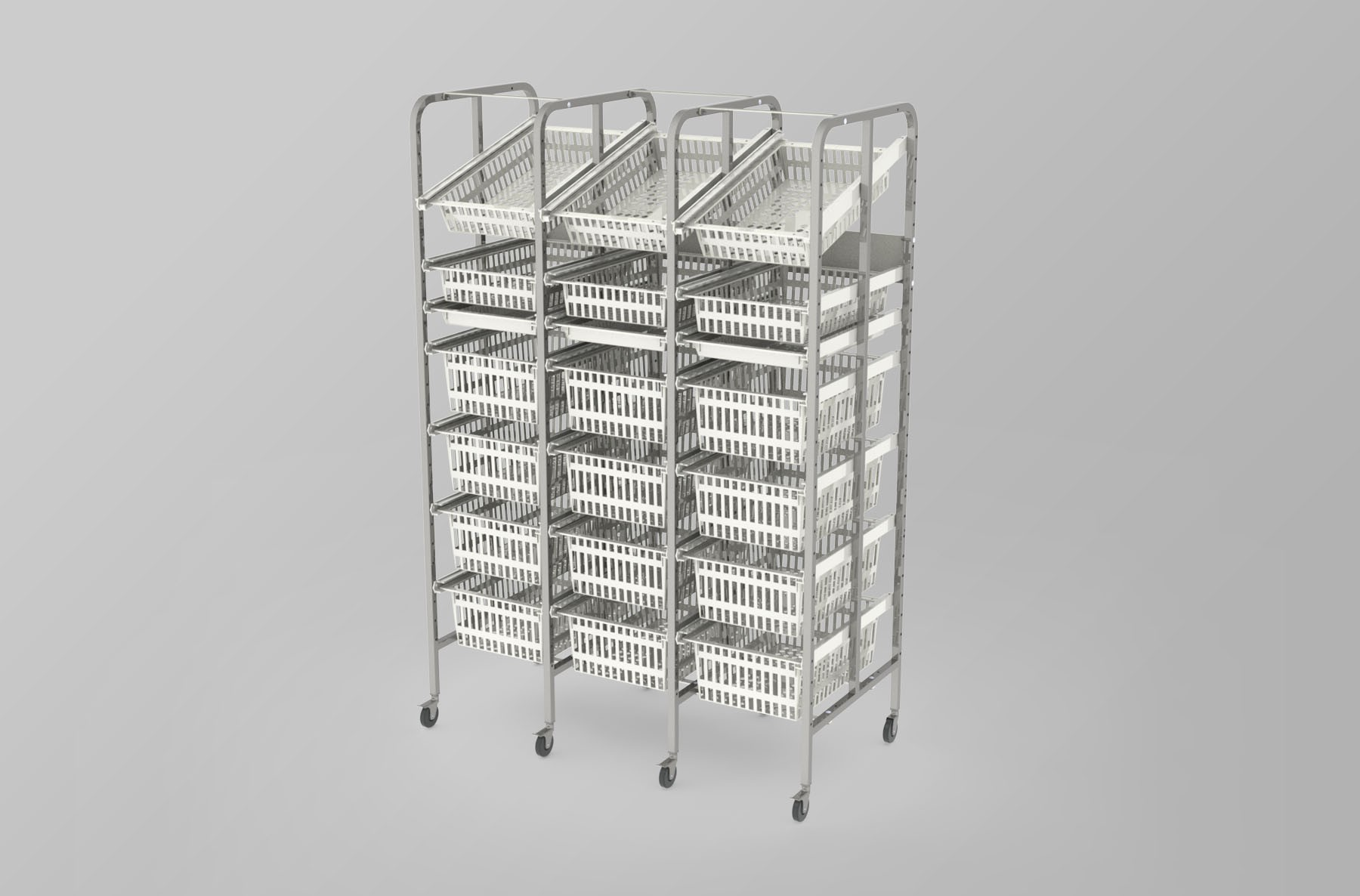 Medical Supply Storage-3 Column-7 High