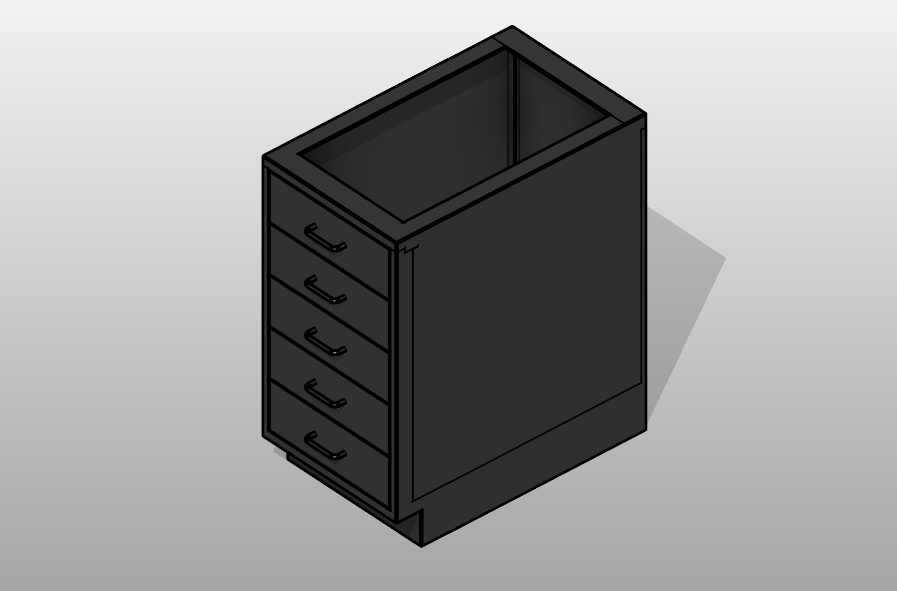 Drawer Bank Stainless Steel Base Cabinet