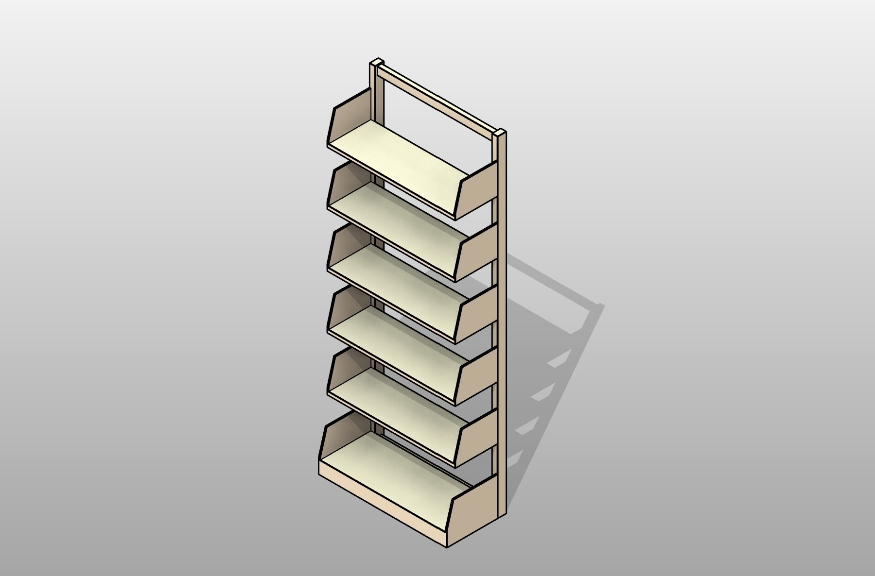 Cantilever Library Metal Shelving