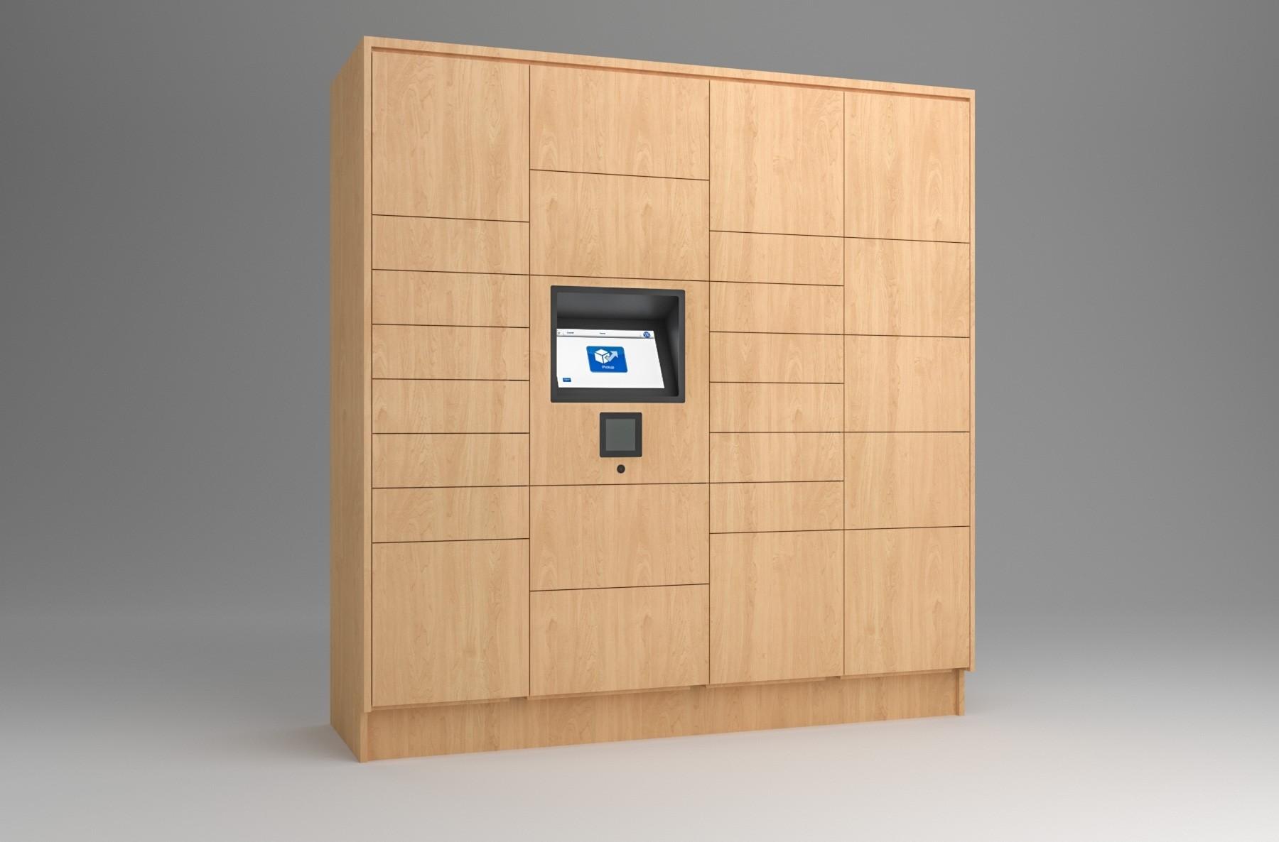 25 Total Openings Laminate Smart Locker