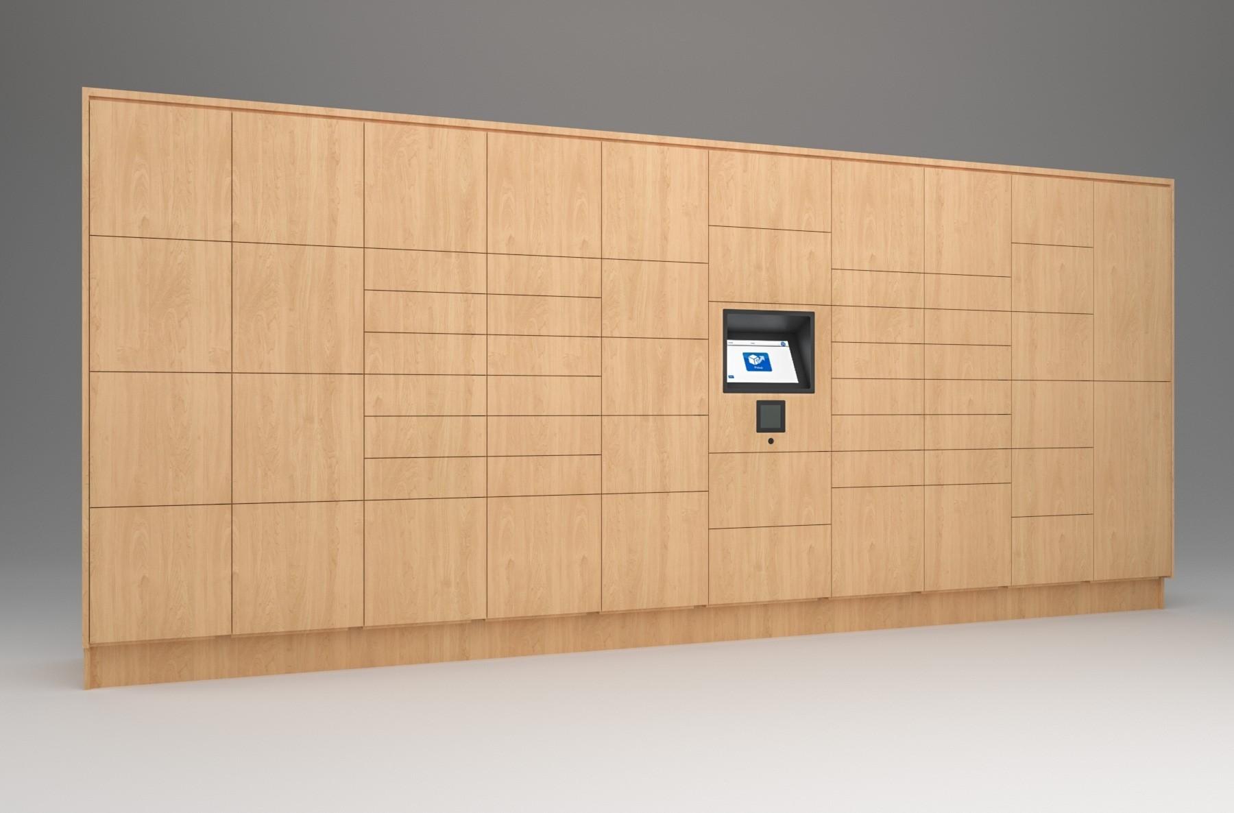 57 Total Openings Laminate Smart Locker