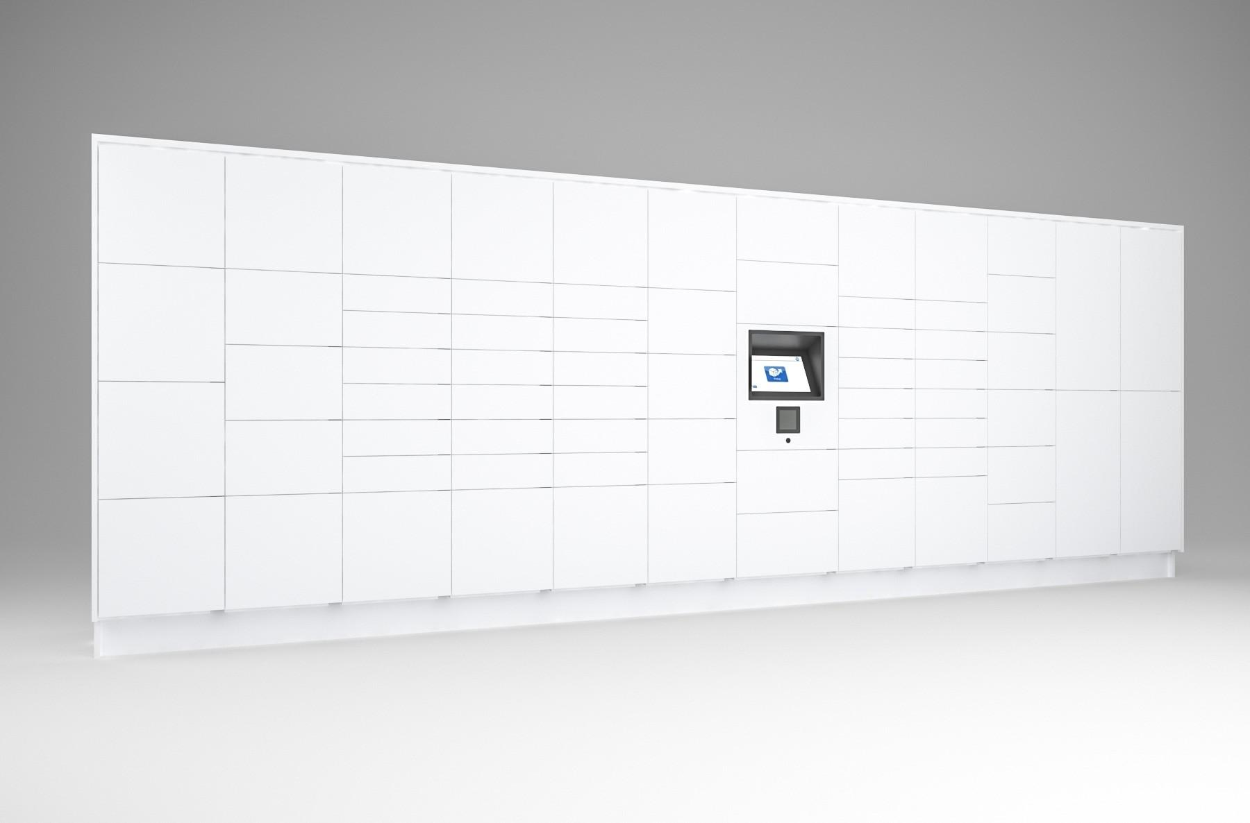 68 Total Openings Laminate Smart Locker