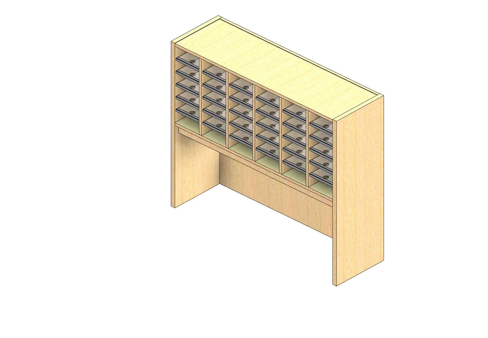 "Zip Sized Closed Back Sort Module - 6 Columns - 18"" Sorting Height w/ 18"" Riser"