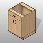 2 Door 1 Drawer Laminate Base Cabinet