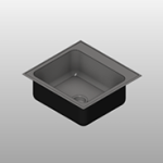 Single Bowl w/ Faucet Ledge Stainless Steel Sink