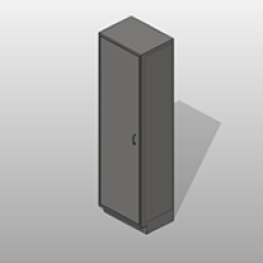 1 Door Stainless Steel Storage Cabinet 5 Adjustable Shelves Small