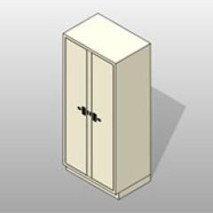 2 Column 5 Door Painted Powder Coated Steel Evidence Locker 1 Small