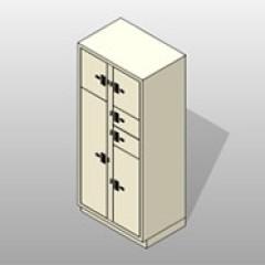 2 Column 7 Door Painted Powder Coated Steel Evidence Locker 1 Small