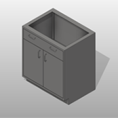 2 Door 1 Drawer SST Base Cabinet Small