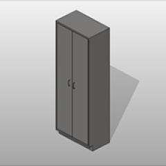 2 Door Stainless Steel Storage Cabinets 5 Adjustable Shelves Small