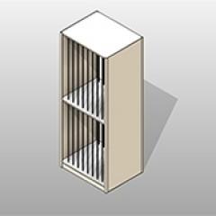 4-Post Powder-Coated-Steel Art Storage Shelving Small