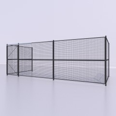 45LF-Sliding Wall Door Three Sided Wire PCS Partition sRend