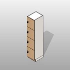 4 Door Locker Storage Laminate ADA-Compliant Small