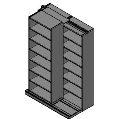 "Box Size Sliding Shelves - 2 Rows Deep - 7 Levels - (30"" x 16"" Shelves) - 64"" Total Width"