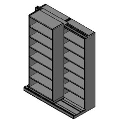 "Letter Size Sliding Shelves - 2 Rows Deep - 7 Levels - (30"" x 12"" Shelves) - 64"" Total Width"