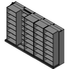 "Box Size Sliding Shelves - 2 Rows Deep - 7 Levels - (30"" x 16"" Shelves) - 154"" Total Width"