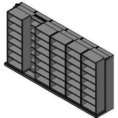"Box Size Sliding Shelves - 2 Rows Deep - 7 Levels - (30"" x 16"" Shelves) - 184"" Total Width"