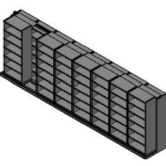 "Box Size Sliding Shelves - 2 Rows Deep - 6 Levels - (30"" x 16"" Shelves) - 244"" Total Width"
