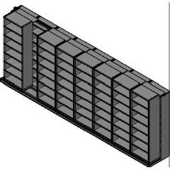"Box Size Sliding Shelves - 2 Rows Deep - 7 Levels - (30"" x 16"" Shelves) - 244"" Total Width"