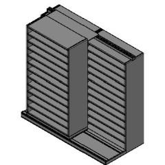 "Bin Size Sliding Shelves - 2 Rows Deep - 12 Levels - (42"" x 18"" Shelves) - 88"" Total Width"