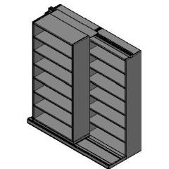 "Box Size Sliding Shelves - 2 Rows Deep - 7 Levels - (42"" x 16"" Shelves) - 88"" Total Width"