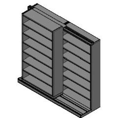"Letter Size Sliding Shelves - 2 Rows Deep - 7 Levels - (42"" x 12"" Shelves) - 88"" Total Width"