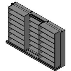 "Letter Size Sliding Shelves - 2 Rows Deep - 7 Levels - (42"" x 12"" Shelves) - 130"" Total Width"