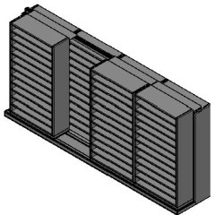 "Bin Size Sliding Shelves - 2 Rows Deep - 12 Levels - (42"" x 15"" Shelves) - 172"" Total Width"