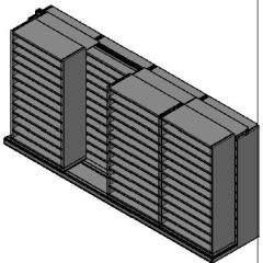 "Bin Size Sliding Shelves - 2 Rows Deep - 12 Levels - (42"" x 18"" Shelves) - 172"" Total Width"