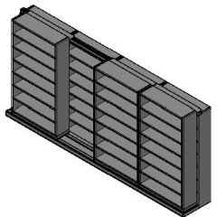 "Letter Size Sliding Shelves - 2 Rows Deep - 7 Levels - (42"" x 12"" Shelves) - 172"" Total Width"