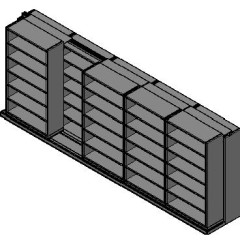 "Box Size Sliding Shelves - 2 Rows Deep - 6 Levels - (42"" x 16"" Shelves) - 214"" Total Width"