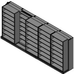 "Box Size Sliding Shelves - 2 Rows Deep - 7 Levels - (42"" x 16"" Shelves) - 214"" Total Width"