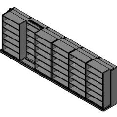 "Box Size Sliding Shelves - 2 Rows Deep - 6 Levels - (42"" x 16"" Shelves) - 256"" Total Width"