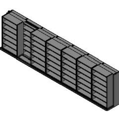"Box Size Sliding Shelves - 2 Rows Deep - 6 Levels - (42"" x 16"" Shelves) - 298"" Total Width"