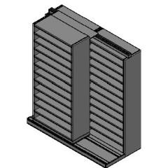 "Bin Size Sliding Shelves - 2 Rows Deep - 12 Levels - (36"" x 15"" Shelves) - 76"" Total Width"