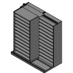"Bin Size Sliding Shelves - 2 Rows Deep - 12 Levels - (36"" x 18"" Shelves) - 76"" Total Width"