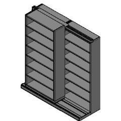 "Letter Size Sliding Shelves - 2 Rows Deep - 7 Levels - (36"" x 12"" Shelves) - 76"" Total Width"