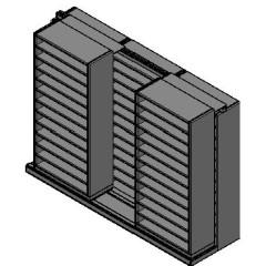 "Bin Size Sliding Shelves - 2 Rows Deep - 12 Levels - (36"" x 15"" Shelves) - 112"" Total Width"