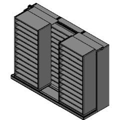 "Bin Size Sliding Shelves - 2 Rows Deep - 12 Levels - (36"" x 18"" Shelves) - 112"" Total Width"