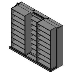 "Legal Size Sliding Shelves - 2 Rows Deep - 8 Levels - (36"" x 15"" Shelves) - 112"" Total Width"