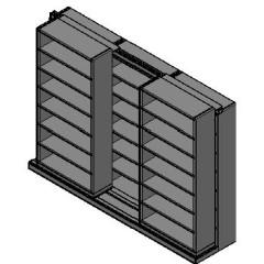 "Letter Size Sliding Shelves - 2 Rows Deep - 7 Levels - (36"" x 12"" Shelves) - 112"" Total Width"
