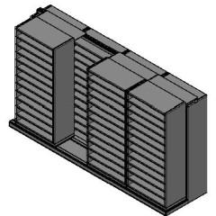 "Bin Size Sliding Shelves - 2 Rows Deep - 12 Levels - (36"" x 18"" Shelves) - 148"" Total Width"