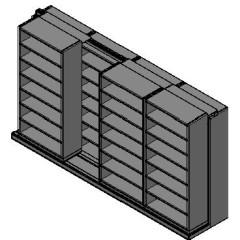 "Legal Size Sliding Shelves - 2 Rows Deep - 7 Levels - (36"" x 15"" Shelves) - 148"" Total Width"