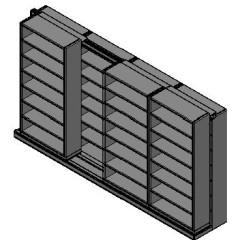 "Letter Size Sliding Shelves - 2 Rows Deep - 7 Levels - (36"" x 12"" Shelves) - 148"" Total Width"