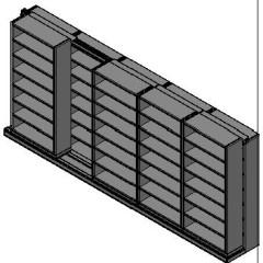 "Letter Size Sliding Shelves - 2 Rows Deep - 7 Levels - (36"" x 12"" Shelves) - 184"" Total Width"