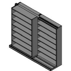 "Letter Size Sliding Shelves - 2 Rows Deep - 7 Levels - (48"" x 12"" Shelves) - 100"" Total Width"