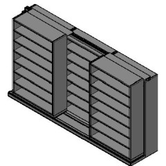 "Legal Size Sliding Shelves - 2 Rows Deep - 7 Levels - (48"" x 15"" Shelves) - 148"" Total Width"